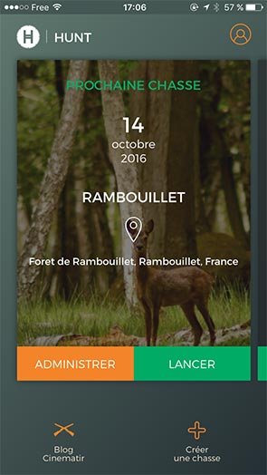 Hunt - Application chasse